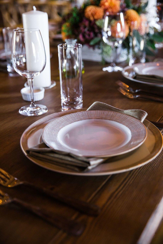 www.santabarbarawedding.com | Venue: Firestone Vineyard | Photographer: Just Kiss Collective | Table Setting