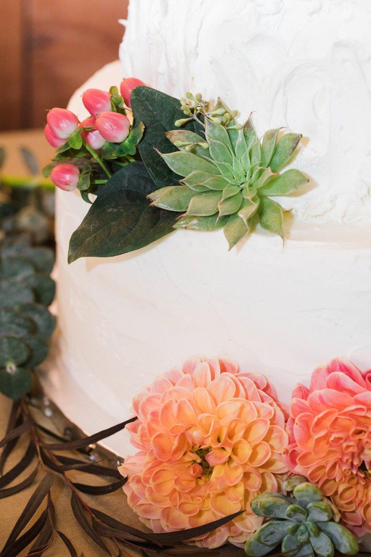 www.santabarbarawedding.com | Venue: Firestone Vineyard | Photographer: Just Kiss Collective | Wedding Cake Detail