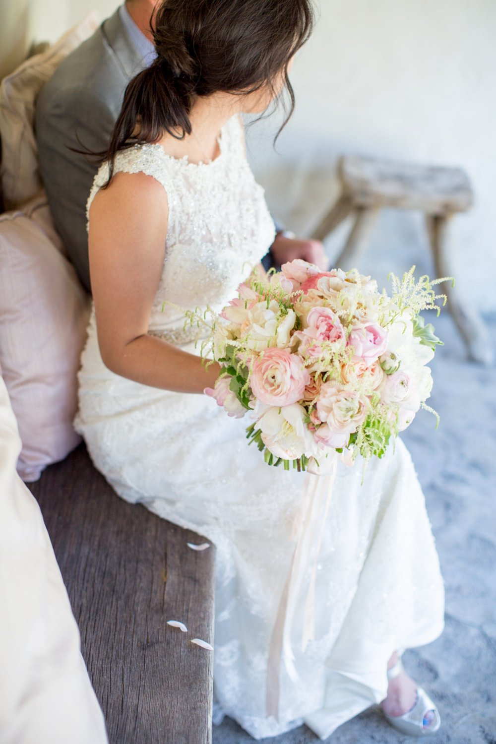 www.santabarbarawedding.com   Michael + Anna Costa Photography   San Ysidro Ranch   Twine Events   Coco Rose Design   Bride and Her Bouquet