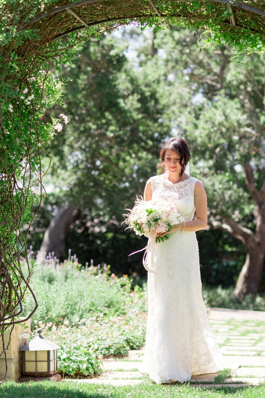 www.santabarbarawedding.com   Michael + Anna Costa Photography   San Ysidro Ranch   Twine Events   Coco Rose Design   Bride Poses Before Wedding