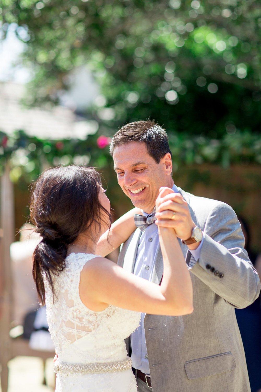 www.santabarbarawedding.com   Michael + Anna Costa Photography   San Ysidro Ranch   Twine Events   Bride and Groom Share a Dance