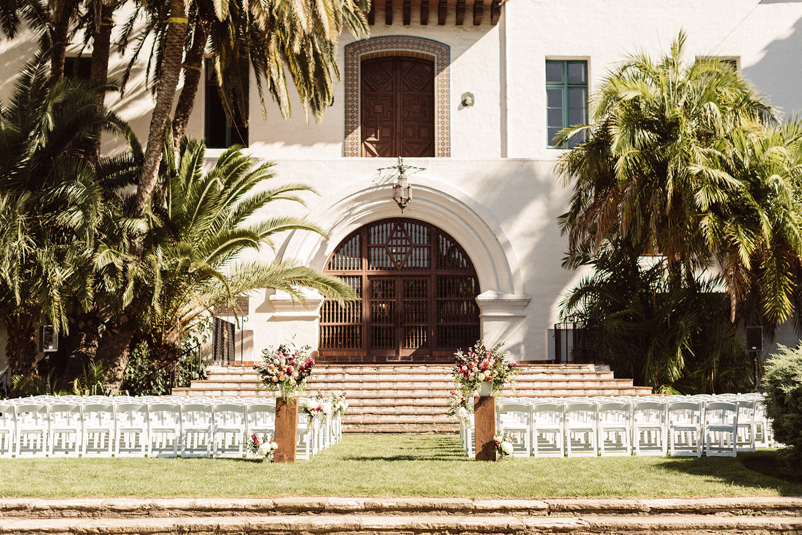 Colorful Outdoor Wedding with Navy Blue Accents — Santa Barbara ...