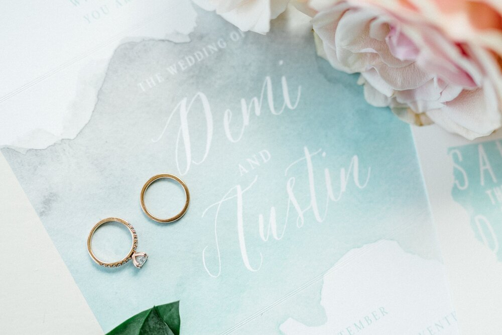 www.santabarbarawedding.com | Elings Park | Hannah Rose Gray | Wedding Rings and Invitation