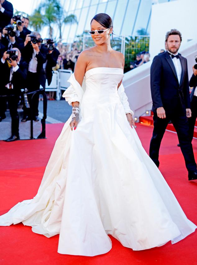 Rihanna in custom Dior Haute Couture