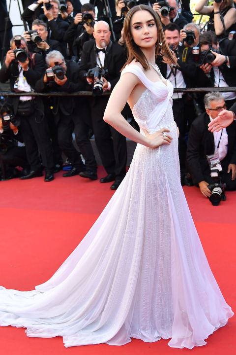 lily collins in ralph and russo