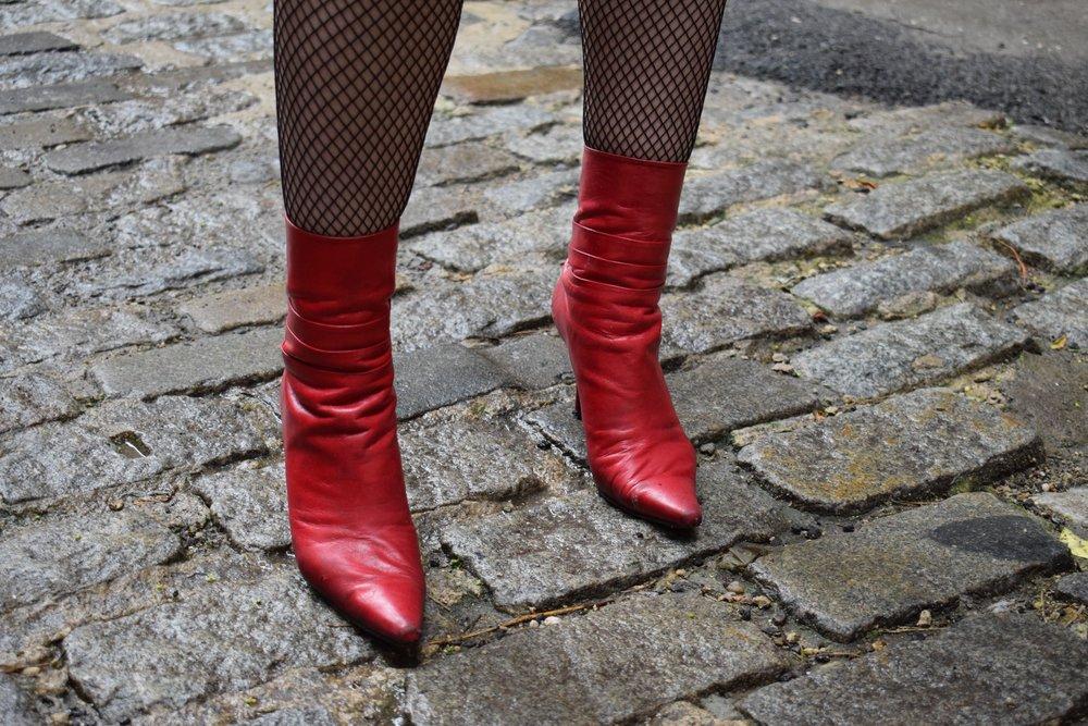 Vintage Stuart Weitzman Patent Leather Boots