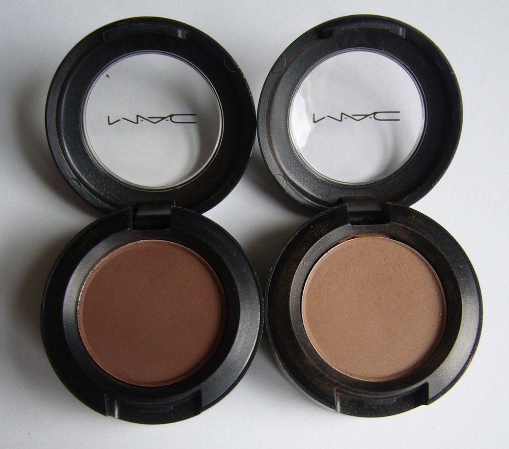 Examples of matte eyeshadows, via M.A.C Makeup