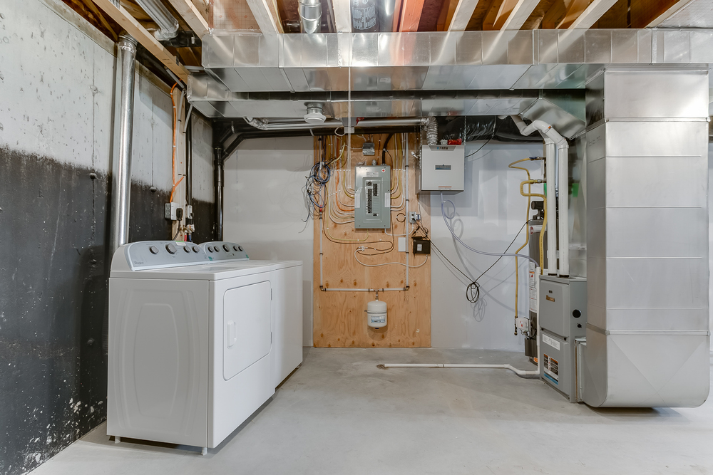 Basement Laundry, Electrical and Furnace