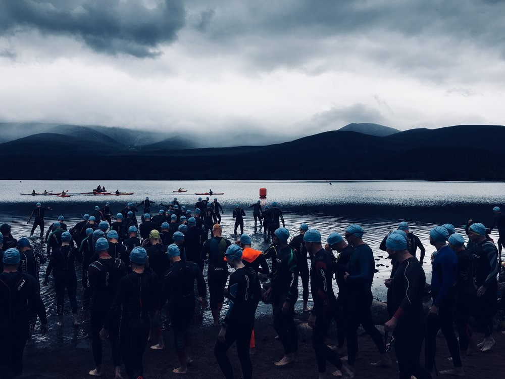 Aviemore Triathlon Swim Start