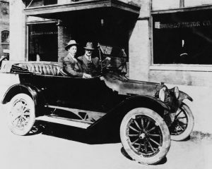 Sterling Edwards Jr. and Louis Chevrolet in 1916