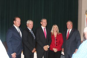 From left to right: Alabama State Senator Cam Ward; Bibb County Commissioner Ricky Hubbard; North American President and CEO of MöllerTech Steve Jordan; Representative April Weaver; and Alabama Secretary of Commerce Greg Canfield