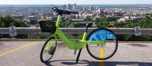A Zyp Bike, part of Birmingham's bikeshare program.