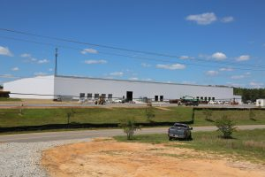 Construction continues on MöllerTech's new facility in Bibb County.