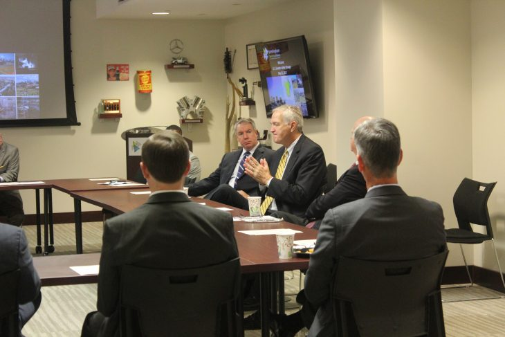 Senator Luther Strange addresses business and community leaders at the BBA.