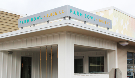 Farm Bowl + Juice Co. in Homewood, a new concept recently opened by the owners of Urban Cookhouse.