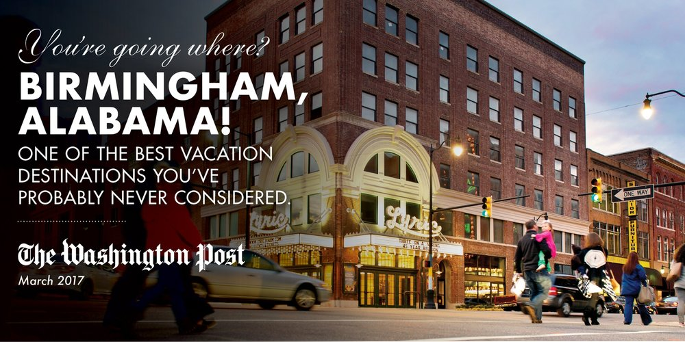 Birmingham, Alabama best vacation destinations