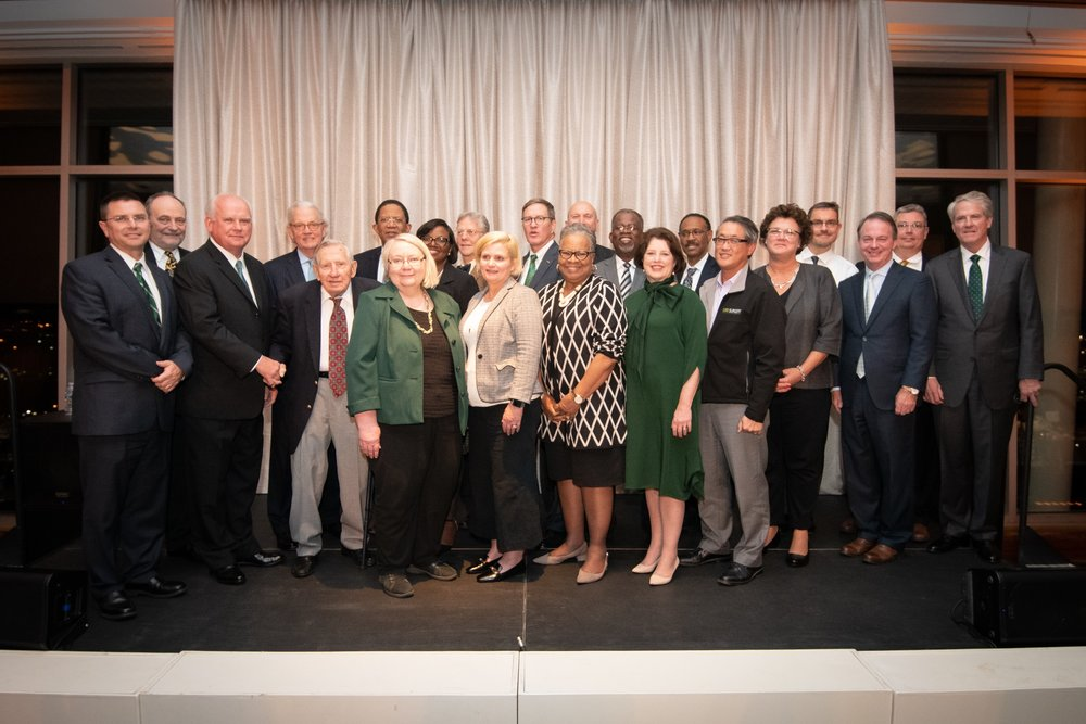 The University of Alabama at Birmingham (UAB), including its President, Dr. Ray Watts, third from left, were honored at the Newcomen Society of Alabama's recent awards ceremony.
