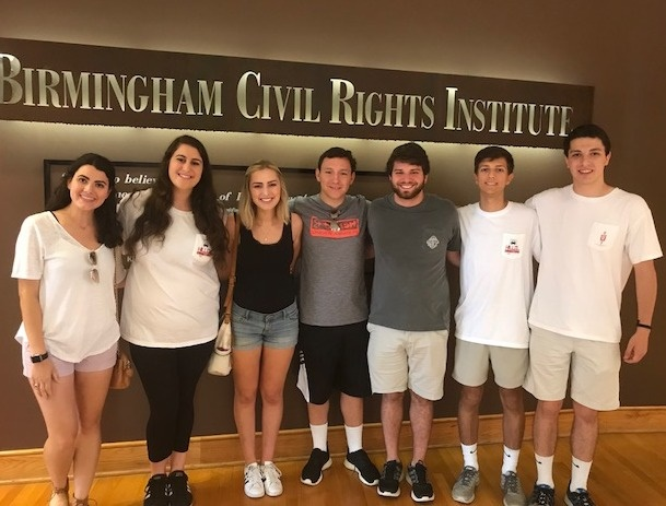 The Hillel Connections interns toured the Birmingham Civil Rights District as a part of their summer experience in Birmingham.