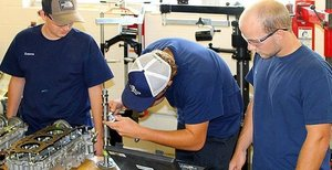 Apprentices at Mercedes-Benz U.S. International in its Alabama plant.
