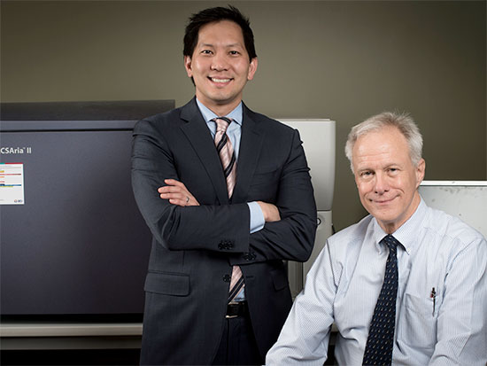 William Ho, left, president and CEO of Incysus, and Dr. Lawrence Lamb, who was recently named the company's executive vice president and chief scientific officer.