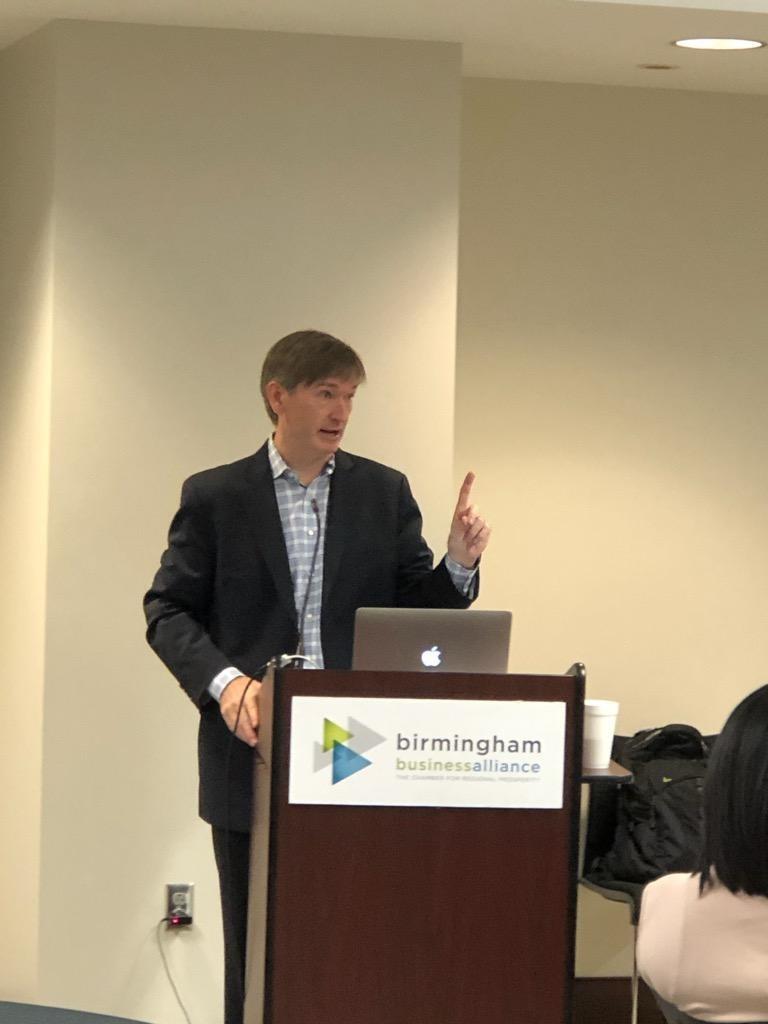 Jake McKenzie was the speaker at the Birmingham Business Alliance's most recent Birmingham Regional Enterprise Council (BREC) meeting.