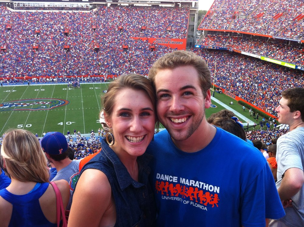 A weekend Mallory visited Jacob at the University of Florida