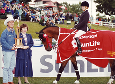 Andrea Strain's first major victory at Spruce Meadows - Sunlife Cup