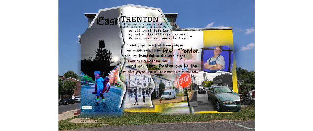 Bentrice Jusu's design featuring images and quotes from Saraii Martin and Kiyah Johnson.
