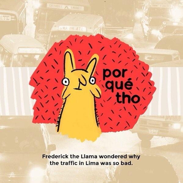 Llamas in Lima