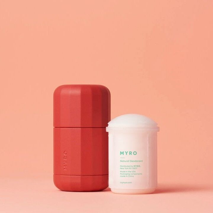 #1. Myro Deodorant - Refillable, recyclable and CUTE cases. I recommend the 'Solar Flare' scent. $10Link- https://www.mymyro.com/pages/deodorant