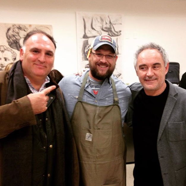 Chef Harcey cooks for José Andrés and Feran Adria at the  MIA's  Notes on Creativity