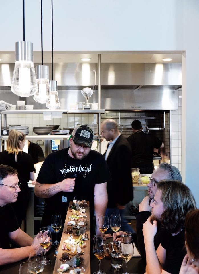 Chef Harcey prepares Smörgåsbord  for Magnus Nilsson of   Faviken  and crew.