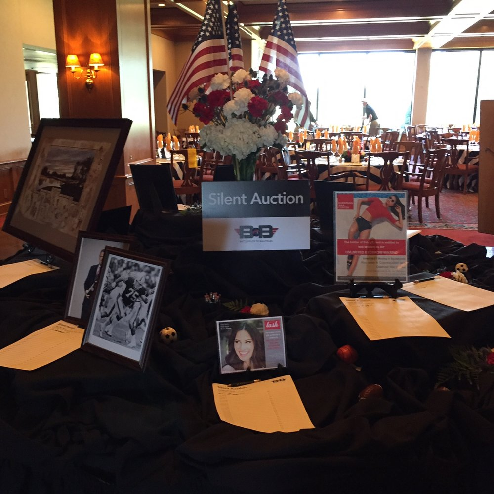 A silent auction provided many one-of-a-kind items.