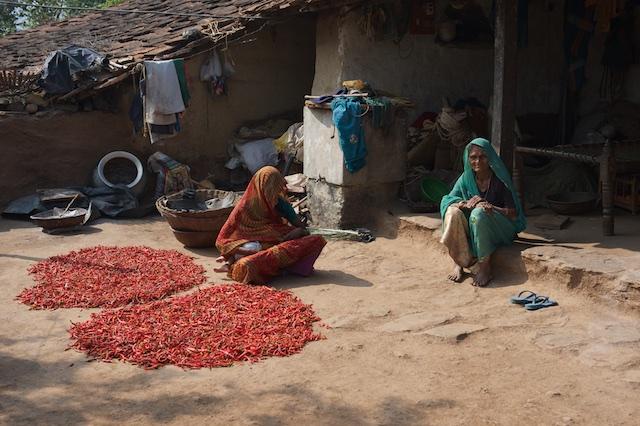 Outside a balwadi, Girwa