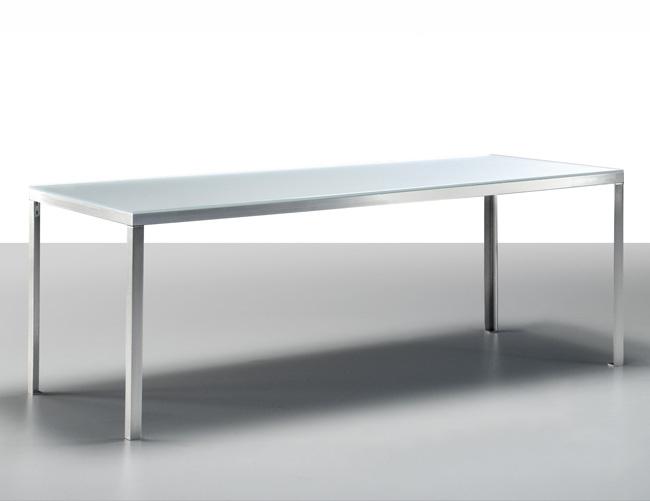 inox vetro tavolo