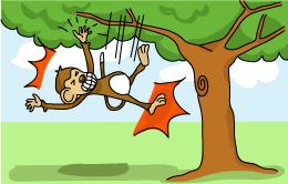 猿も木から落ちる -Saru mo ki kara ochiru Even monkeys fall from trees