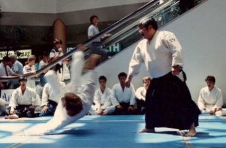Furuya Sensei demonstrating at Yaohan Plaza in the mid 1980s