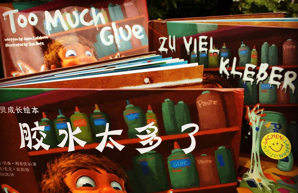 Too Much Glue is now available in Chinese and German!