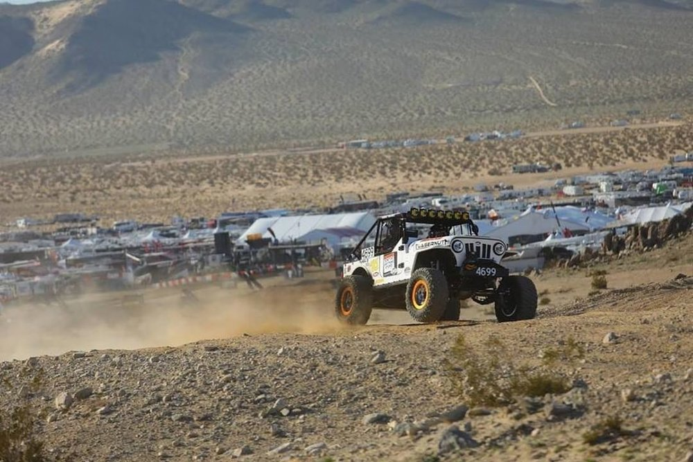 Jesse Haines  at King of the Hammers 2019. Courtesy of  @maxxis_ec