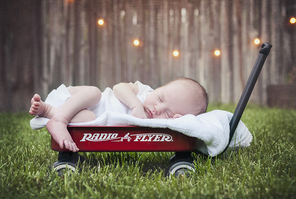 Grayson and Radio Flyer Wagon-3v3