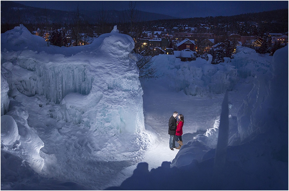 Breckenridge Ice Castles Engagement