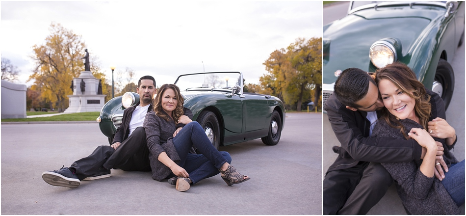 City Park Denver Engagement Shoot | Connie and Juan's Austin Healey Engagement Shoot_0007