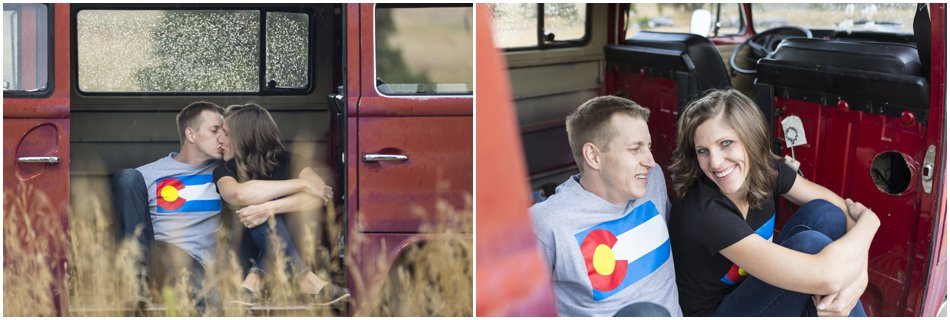 Evergreen Engagement Shoot, Volkswagen Van Engagement Shoot, Denver Wedding and Engagement Photographer Drake Busch