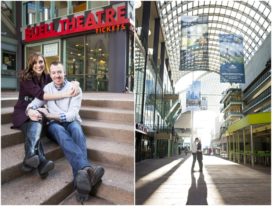 Denver Center for the Preforming Arts Engagement Shoot | Meghan and Tim'e Downtown Denver Engagement Shoot_0002