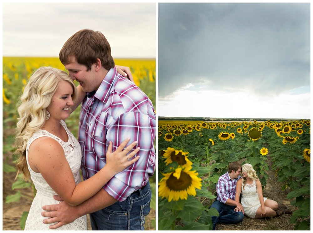 Sunflower Field Engagement Shoot | Bryce and Tessi's Engagement_0004.jpg