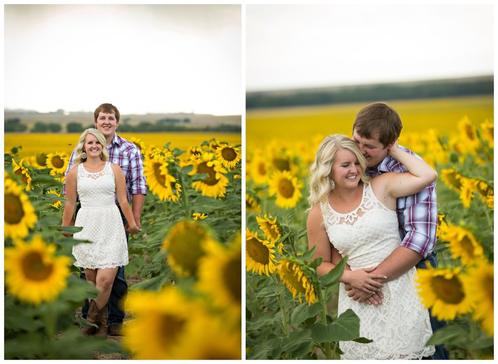 Sunflower Field Engagement Shoot | Bryce and Tessi's Engagement_0005.jpg