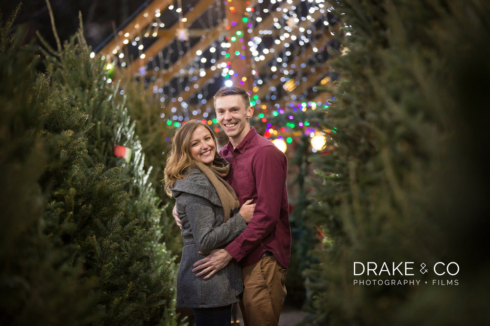 Evergreen Tree Farm Engagement Session