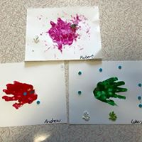 handprint rainbow fish