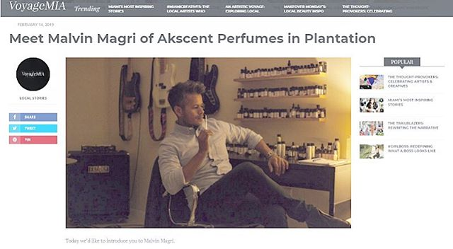 So stoke to be featured on Voyagemia blog!! Check out the link in the bio section so you can learn a little bit about how i got into making perfumes!! Many thank to everyone in helping me achieve this crazyness! Support your local artisans! . http://voyagemia.com/interview/meet-malvin-magri-akscent-perfumes-plantation/ . .wwwakscentperfumes.com I#akscentperfumes #artisanperfumes #crandonparkperfume #summerperfume #handcraftedperfumes #smellsgoodinhere #keepitlocal #miamiperfume #smallbusiness #homebrewed #shoplocal #supportlocalfl #prettygirlsmakegravesperfume #blackcelebrationperfume #handcraftedinflorida #locallymade #labeldesign #packagedesign #crandonperfume #rosarioperfume #lullabyperfume #goldenhazeperfume #indyperfume #handmadeperfume #perfumemaking