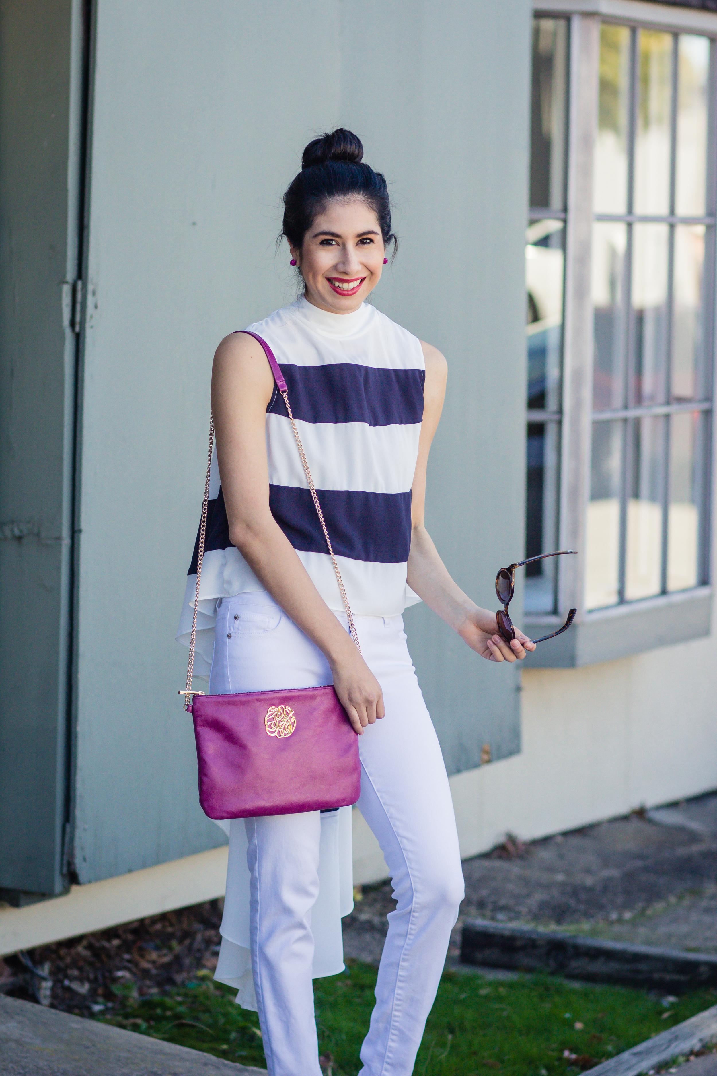 Vanessa navy stripe top-1